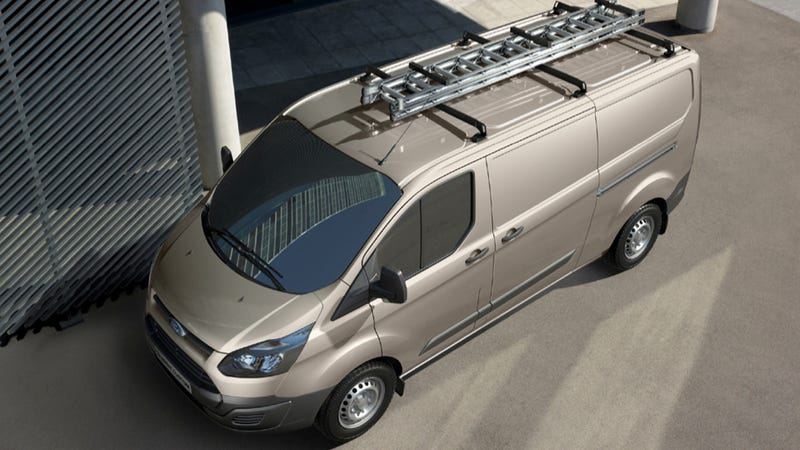 Illustration for article titled The New Euro Ford Transit Custom Van Can Swallow A Huge Load