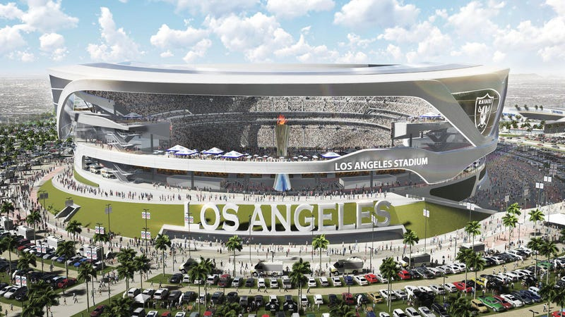 Illustration for article titled Proposed Los Angeles Stadium Would Feature An Al Davis Eternal Flame