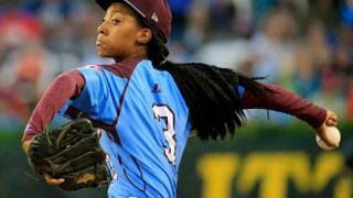 Mo'ne Davis pitches during the Little League World Series last summer. Rob Carr/Getty Images