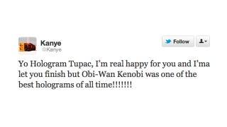 Illustration for article titled Kanye Interrupts Tupac on Behalf of Obi Wan