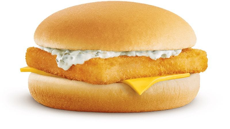 I quit all meats and fast food—except for the Filet-O-Fish