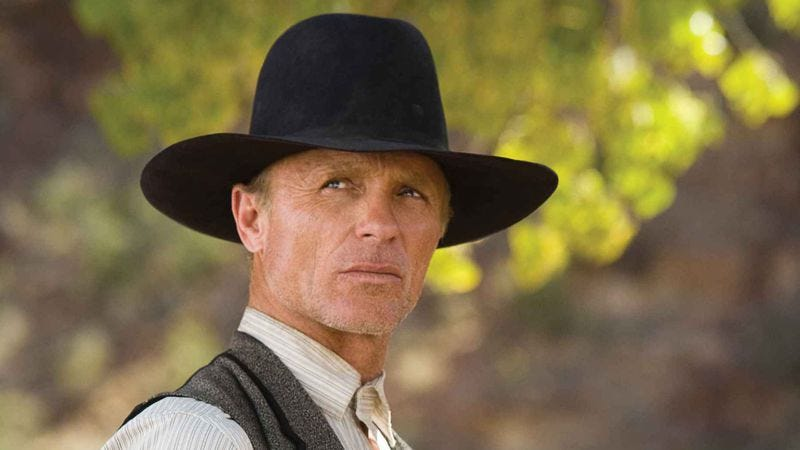 Illustration for article titled Ed Harris might be a robot, will definitely be evil in HBO's Westworld