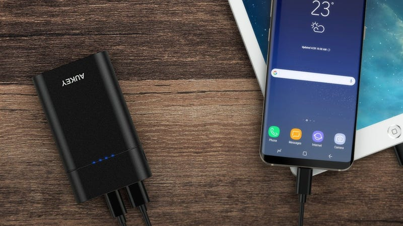 Aukey 10,000mAh USB Battery Pack with USB-C | $13 | Amazon