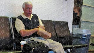 """Illustration for article titled TMZ's Photo Of """"Jerry Sandusky"""" Eating Donuts At The Airport Was Just Of Some Old Guy Eating Donuts At The Airport"""