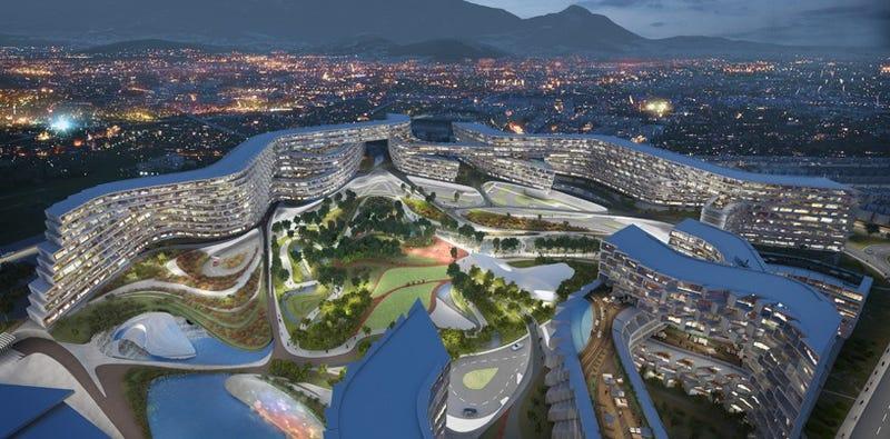 Illustration for article titled El debut de Zaha Hadid en México es un futurista complejo residencial