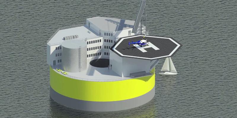 Illustration for article titled El MIT idea una planta nuclear flotante capaz de resistir tsunamis