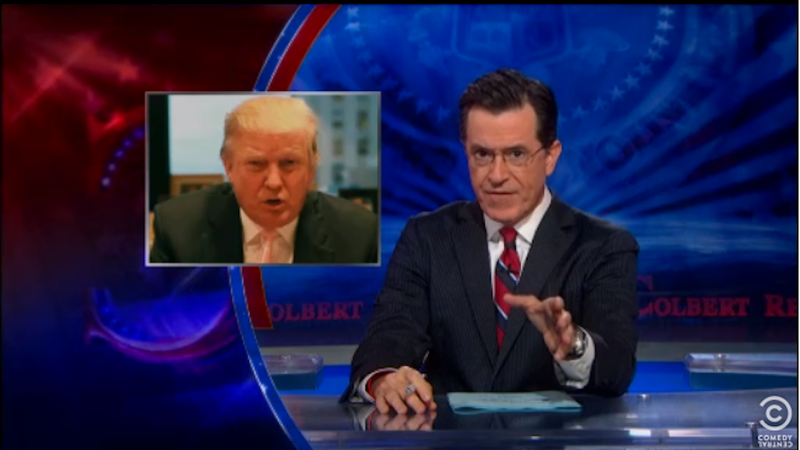 Illustration for article titled Stephen Colbert Invites Donald Trump to Gargle His Balls For Charity