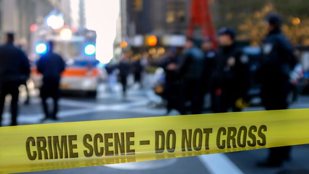 Police Warn Onlookers Not To Enter Active Crime Scene Cover-Up