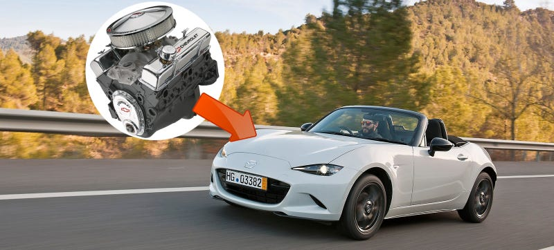 Illustration for article titled Of Course Flyin' Miata Will Stick A V8 Into The New Miata