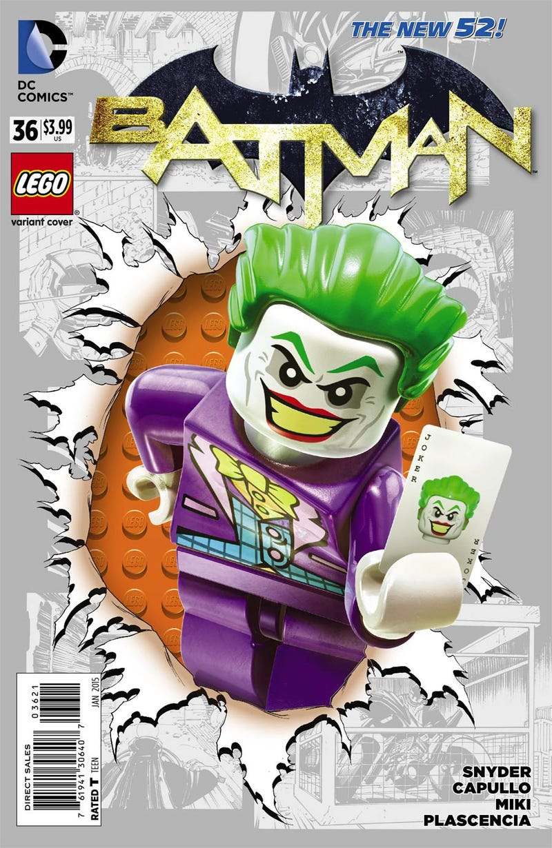 Illustration for article titled Comic Wednesday! Week two of DC Comics Lego variants in stores now