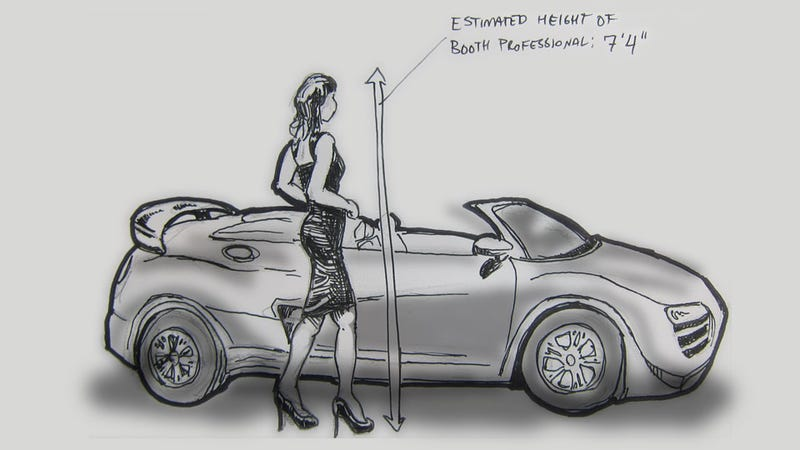 Illustration for article titled Livesketching the 2012 Detroit Auto Show: A Booth Professional
