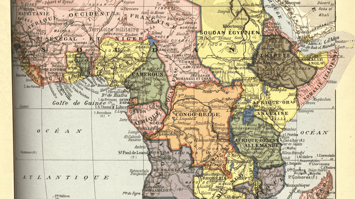 A map of colonial africa just before the outbreak of world war i gumiabroncs Gallery