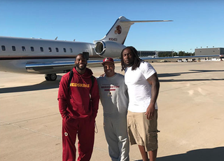 Pierre Garcon (left) and Ricky Jean Francois (right) Instagram