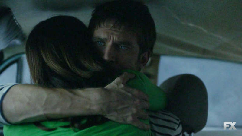David (Dan Stevens) is hugging goodbye in more ways than one.