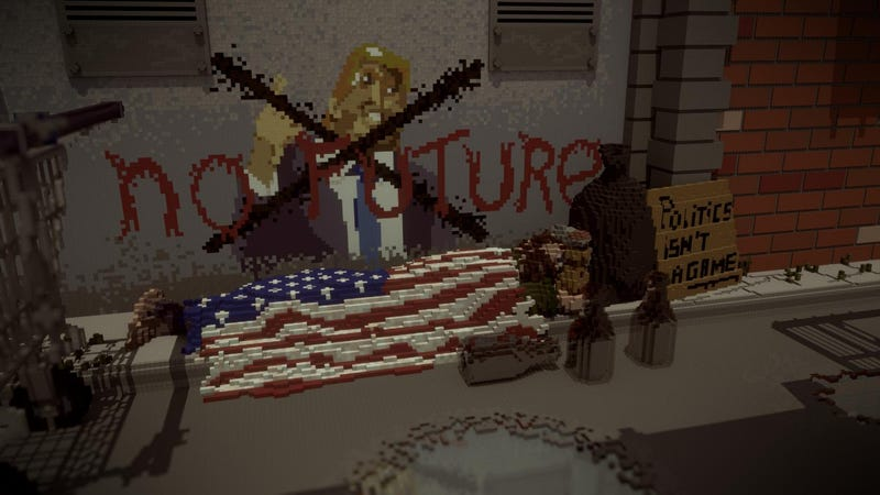 Illustration for article titled Minecraft as American Political Commentary