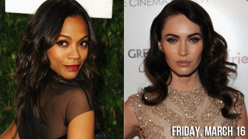 Illustration for article titled Megan Fox and Zoe Saldana Team Up To Swindle Us All