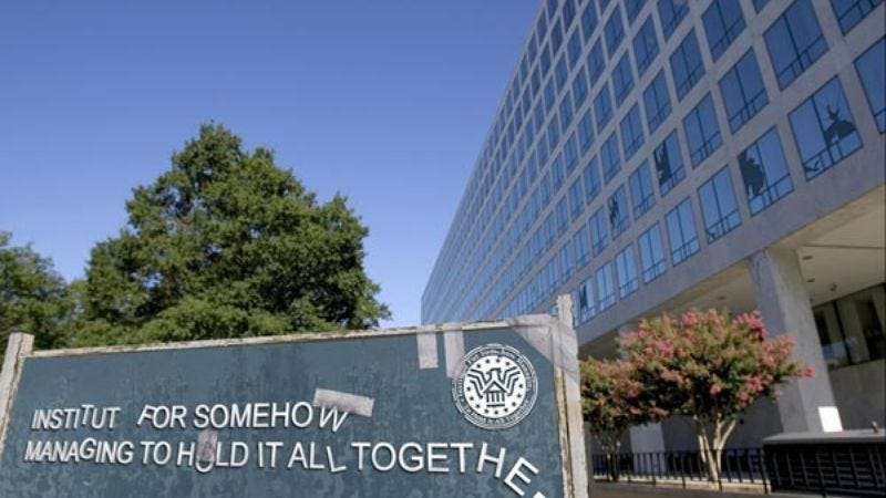 The Washington headquarters of the 75-year-old agency musters all its strength to barely hang in there.