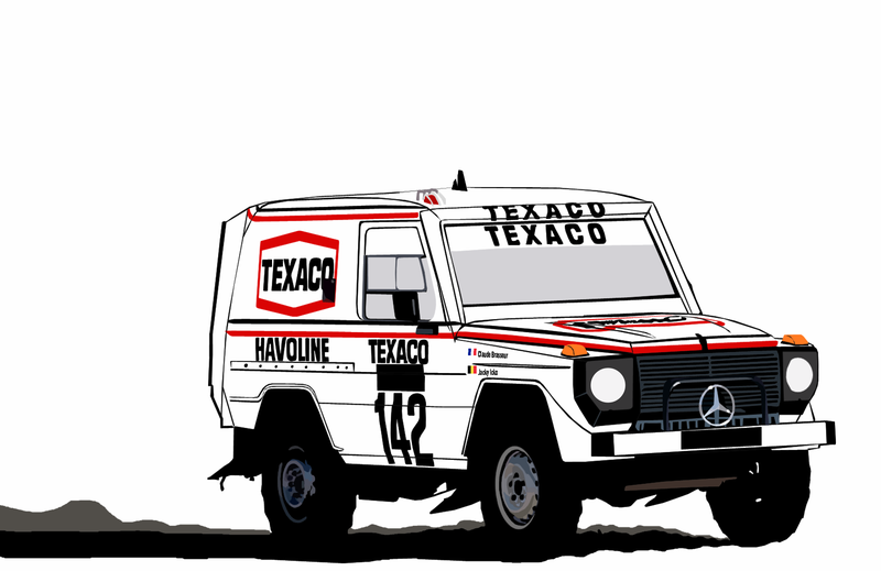 Illustration for article titled Remember WhenJacky Ickx Won Dakar In a G-Wagen?