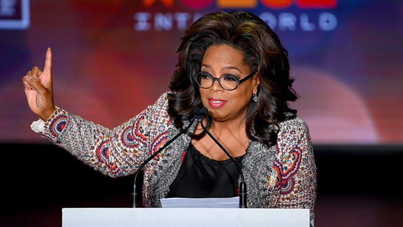 Oprah Winfrey speaks onstage at the 10th Anniversary Women In The World Summit on April 10, 2019 in New York City.
