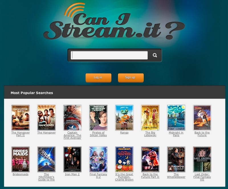 Illustration for article titled CanIStream.It Quickly Shows If and Where You Can Stream That Movie