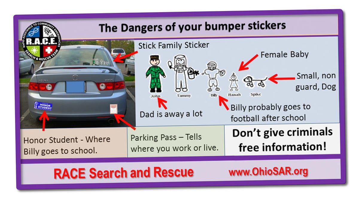 Those stupid stick figure family stickers arent putting you in danger