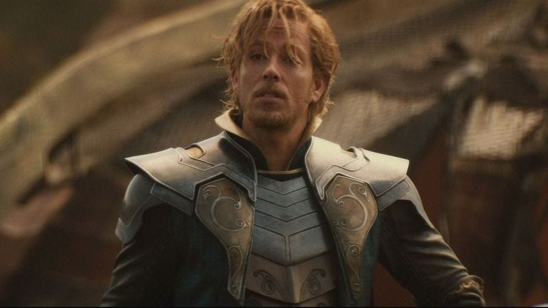 Zachary Levi as Fandral in Thor: The Dark World