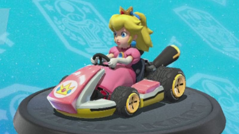 Illustration for article titled Read This: Mario Kart 64's Princess Peach endures as a queer icon