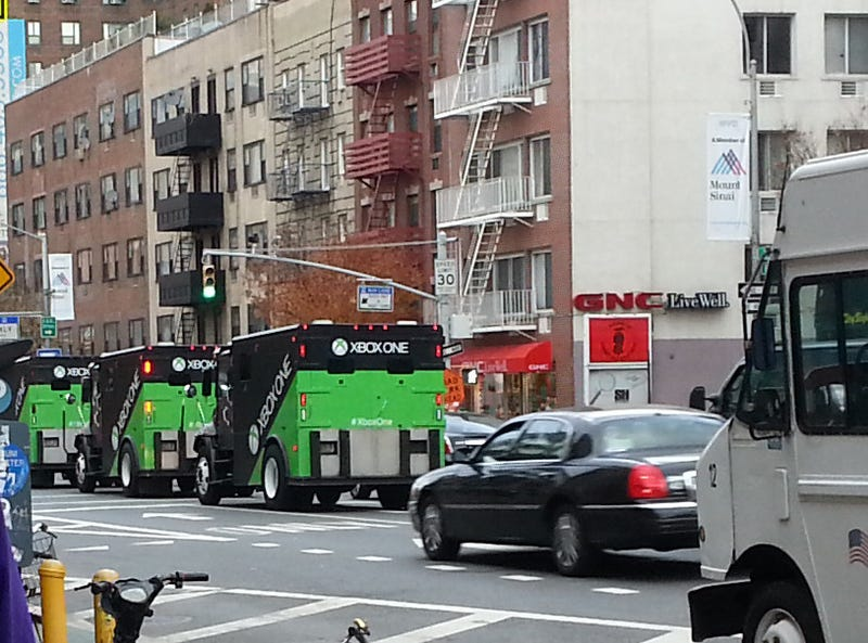 Illustration for article titled Armored Trucks Full of Xbox Ones Rolled Through New York City Today