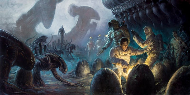 How to make a cohesive and compelling alien cinematic for Prometheus xenomorph mural