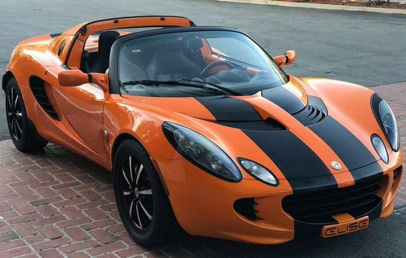 for 29 999 could this orange and black 2005 lotus elise. Black Bedroom Furniture Sets. Home Design Ideas