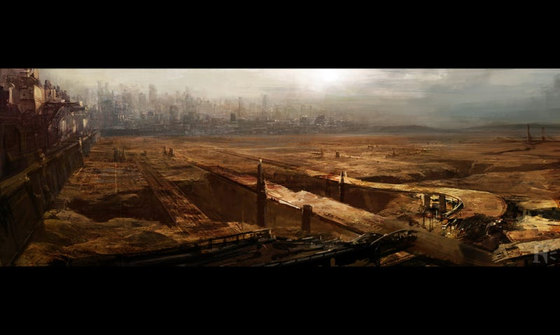 Illustration for article titled Dredd concept art gives us a closer look at Mega-City One