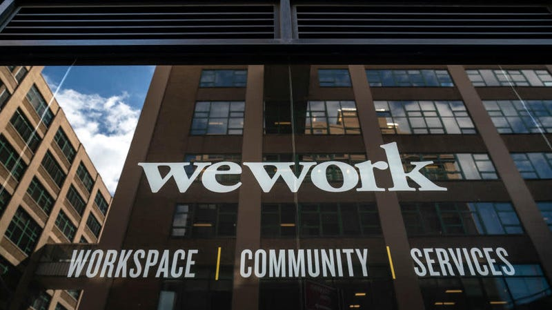 Illustration for article titled WeWork umbrella locks office door in apparent protest move