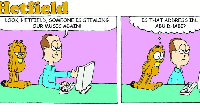 Hetfield The Cat pairs Garfield's ennui with Metallica's rage