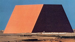 Illustration for article titled This massive flat-topped pyramid will be built in Abu Dhabi — guess what it'll be made of