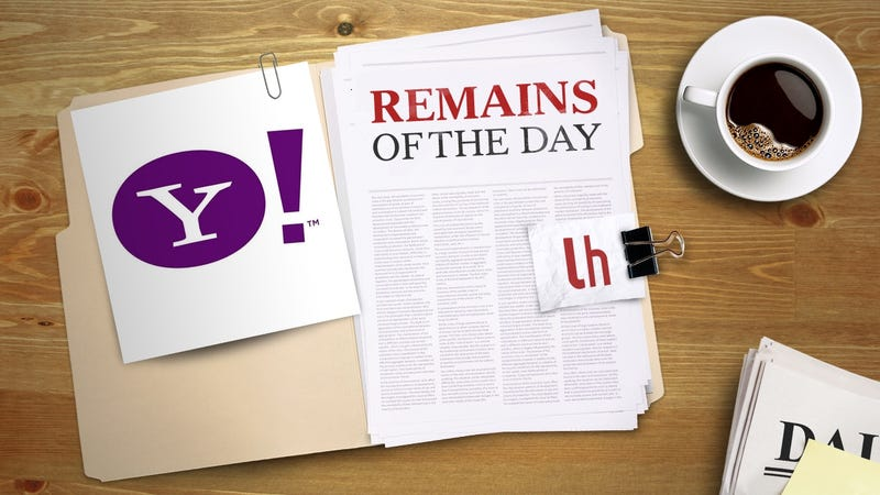 Illustration for article titled Remains of the Day: Verizon Buys Yahoo for $4.8 Billion