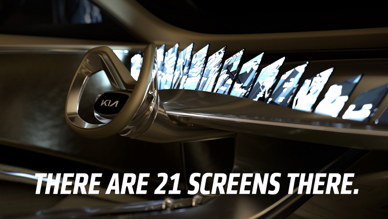 Illustration for article titled Kia's Electric Concept Has Twenty-One (21) Screens