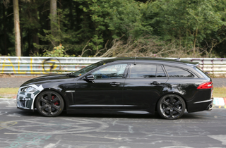 Illustration for article titled Jaguar XFR-S Sportbrake spotted testing at Nurburgring