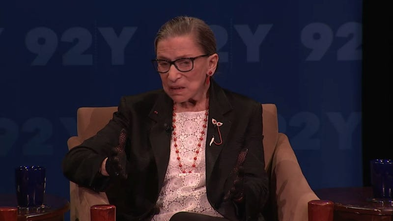Illustration for article titled Ruth Bader Ginsburg Has 'a Large Supply' of Notorious RBG T-Shirts