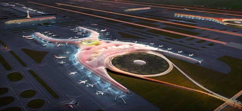 Illustration for article titled Mexico City's New Mega-Airport Will Collect Its Own Energy and Water