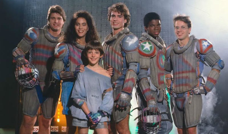 The cast of Solarbabies, which features a few familiar faces. Image: MGM