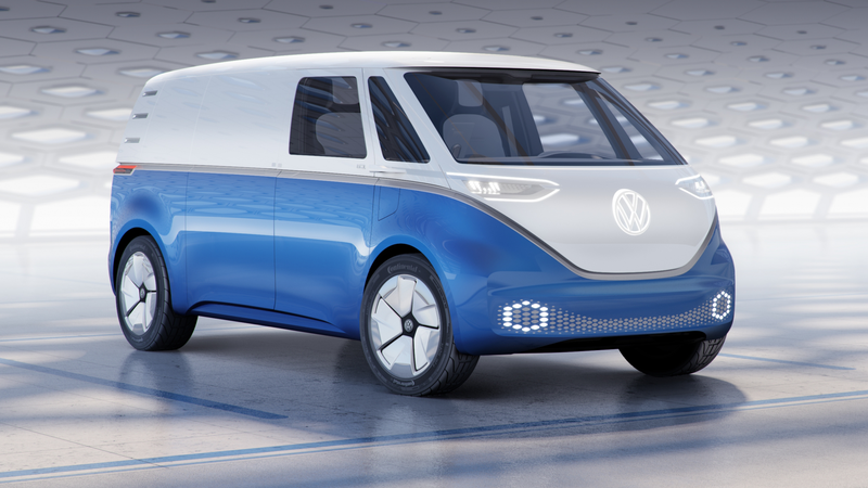 Illustration for article titled Volkswagen Shows Off Cargo Van Version of Its Reborn Electric Microbus
