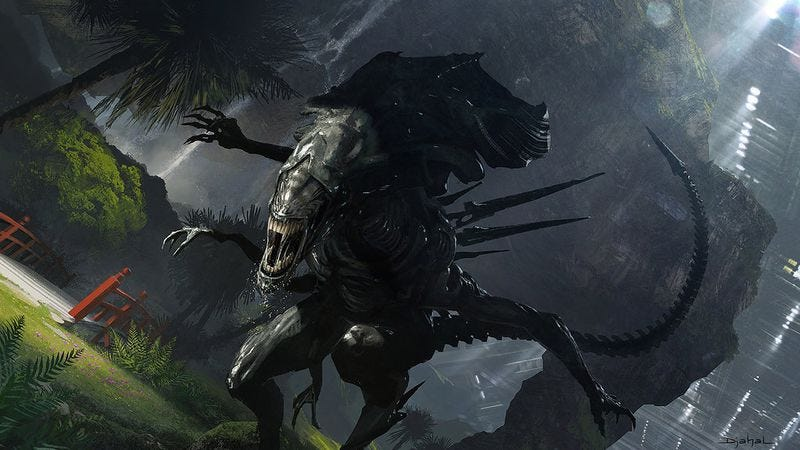 Illustration for article titled Neill Blomkamp posted concept art for an Alien movie that isn't happening