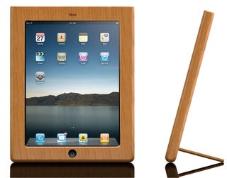 Illustration for article titled Vers Handcrafted Wood iPad Case Beautifies Your Bezel, Props Your Pad