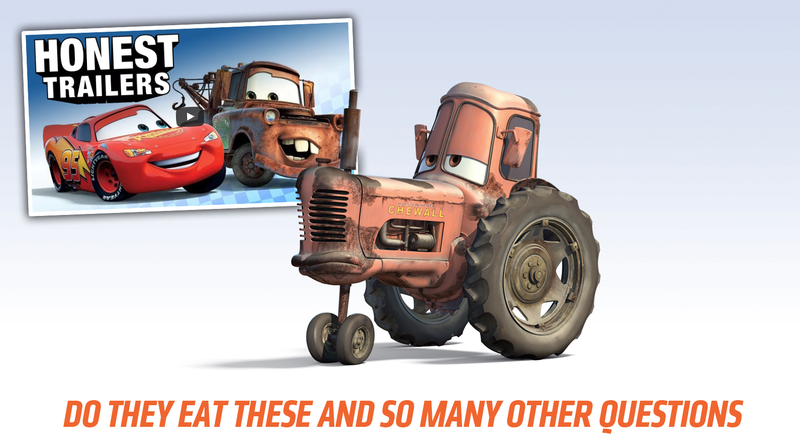 Illustration for article titled The Honest Trailers Take On CarsProves You're Not Alone Asking The Big Questions