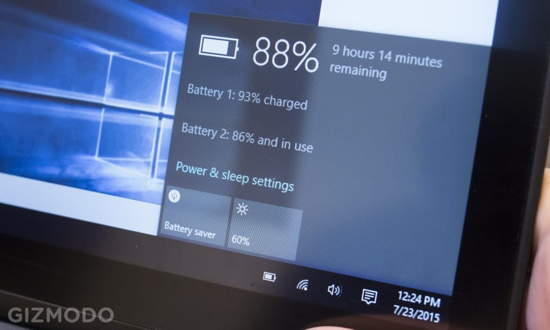 Illustration for article titled Windows 10 Battery Life Is Better—Except When It's Worse