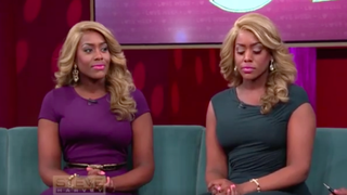 Two sisters get shamed on Steve Harvey's talk show for wanting to date men they find attractive.Facebook screenshot