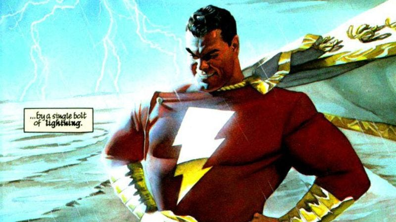 Illustration for article titled Dwayne Johnson is almost certainly going to play the superhero Shazam