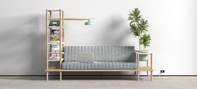 Illustration for article titled This Multifunctional Sofa Is Truly the Furniture of the Future