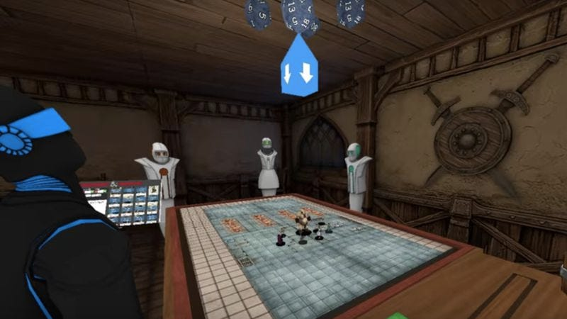 Screenshot from AltspaceVR's ad for virtual reality D&D