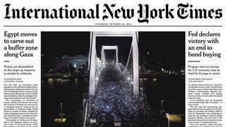 Illustration for article titled A New York Times címlapon hozza az internetadó elleni tüntetés képét